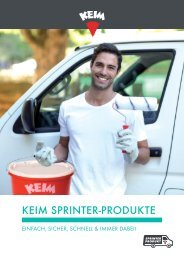 KEIM Sprinterprodukte