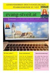 Evangelische Kirchenzeitung Frühjahr 2020