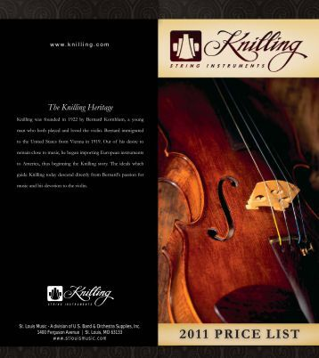 knilling price list