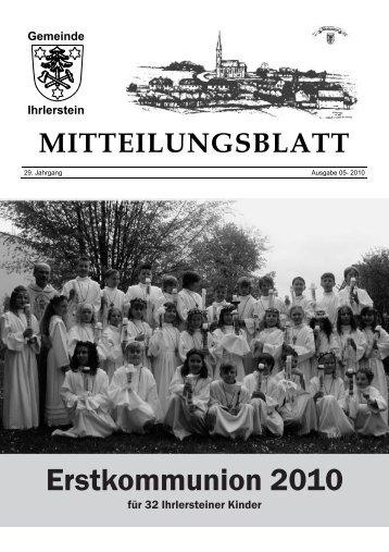 Gemeinde Ihrlerstein MITTEILUNGSBLATT