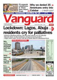 01042020 - Lockdown: Lagos, Abuja residents cry for palliatives