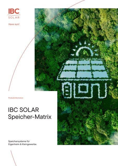 IBC SOLAR Speichermatrix