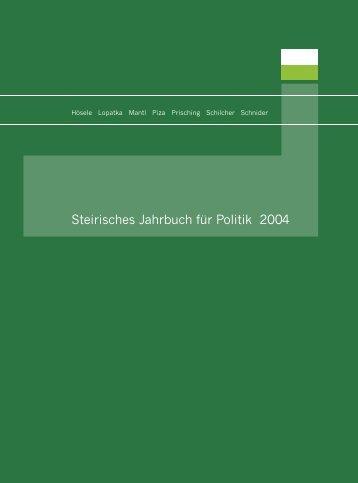 Steirisches Jahrbuch für Politik 2004 - Steirische Volkspartei