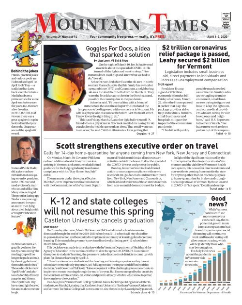 Mountain Times - Volume 49, Number 14: April 1-7, 2020