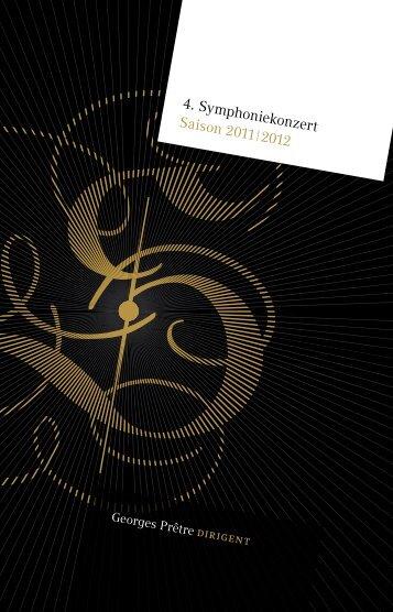 4. Symphoniekonzert Saison 2011 2012 - Staatskapelle Dresden