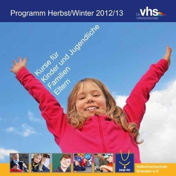 Programm Herbst/Winter 2012/13 - Volkshochschule Dresden
