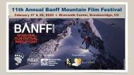 Banff 2020 Marketing/Sponsor Recap