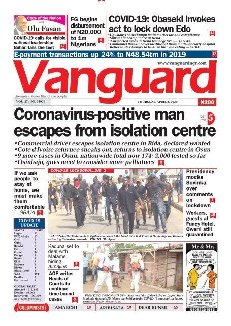 02042020 - Coronavirus positive man escapes from isolation centre