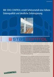 Mit STAS CONTROL erzielt Schössmetall eine ... - STAS GmbH