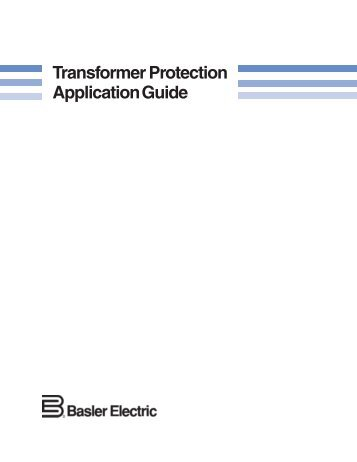 Transformer protection application guide.