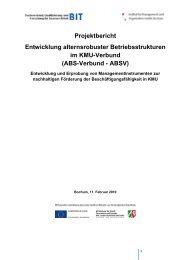 Projekt: Alternsrobuste Betriebsstrukturen im KMU-Verbund - BIT e.V.