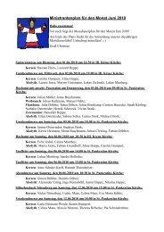 Ministrantenplan für den Monat Juni 2010 - ministranten-belecke.de