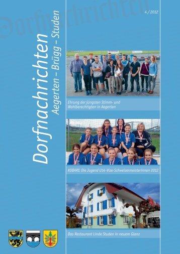 Dorfnachrichten 4/2012 - Aegerten