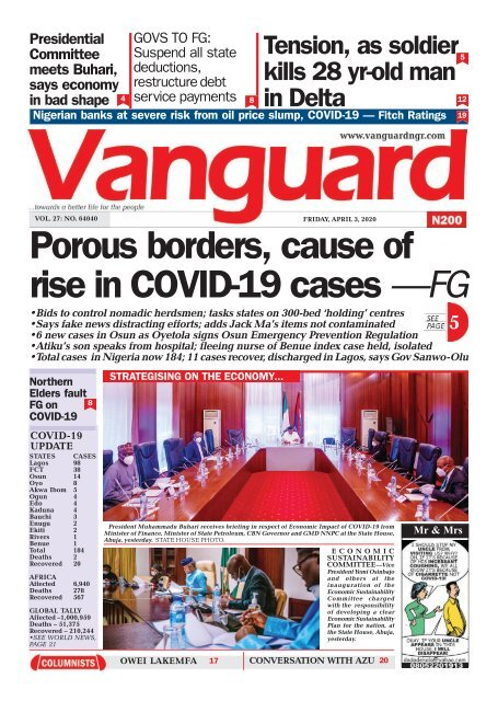 03042020 - Porous borders, cause of rise in COVID-19 cases —FG