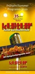 Felsenkeller Kulturprogramm 1/2020