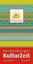 Veranstaltungskalender Hachenburger KulturZeit 1-2020