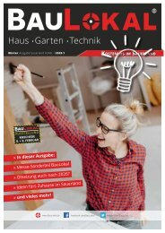 BauLokal Magazin Sauerland Winter/Frühling 2020