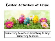 Easter Activities at Home for SEN students
