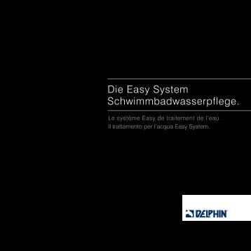 Die Easy System Schwimmbadwasserpflege. - Chemia Brugg AG