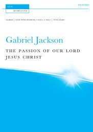 Jackson The Passion of Our Lord Jesus Christ vocal score