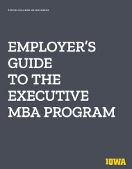 Employer's Guide to the Executive MBA Program