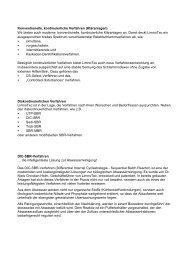Konventionelle, kontinuierliche Verfahren (Kläranlagen ... - LimnoTec
