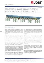 Transporteur a auge vibrante - JÖST GmbH + Co.KG