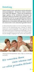 Risiko Hepatitis A, Hepatitis B auf Reisen - arbeitsmedizin-gsk.de - Seite 3