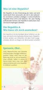 Risiko Hepatitis A, Hepatitis B auf Reisen - arbeitsmedizin-gsk.de - Seite 4