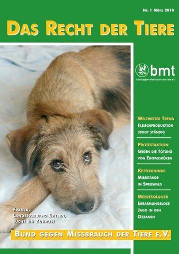 RDT 1/2010 - Bund gegen Missbrauch der Tiere ev