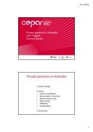 Private pensions in Australia