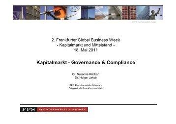 """VI. Compliance im Bereich """"Being Public"""""""