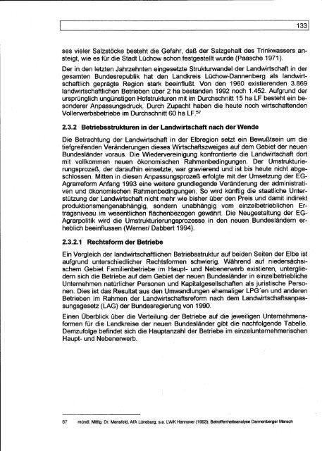 E Verkehrsbezogene Analyse und Perspektiven der Region 'Dresden'