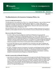 The Manufacturers Life Insurance Company (Phils.), Inc.