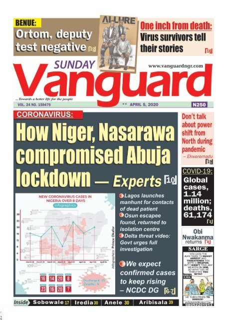 05042020 - How Niger, Nasarawa compromised Abuja lockdown - Experts