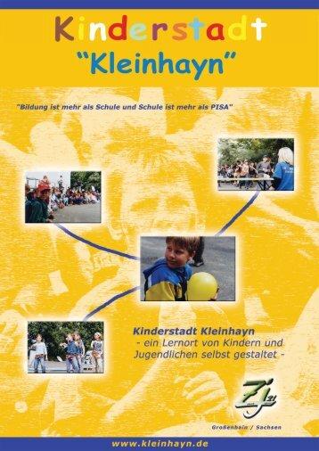 Kinderstadt Kleinhayn - ein Lernort von Kindern und Jugendlichen ...