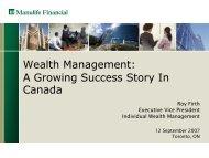 Wealth Management - Manulife Financial