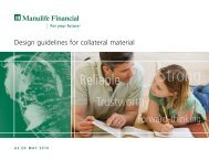 Design guidelines for collateral material - Manulife Financial