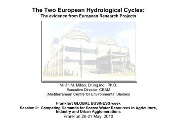 The Two European Hydrological Cycles: