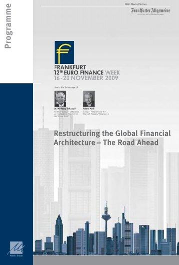 P rogramme www .eurofinancew eek.com - Maleki Conferences GmbH