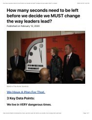 How many seconds need to be left before we decide we MUST change the way leaders lead? | LinkedIn