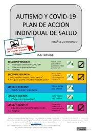 Incluye NUEVOS partes para escribir y insertar imagenes ESPAÑOL 2.0 FORMATO AUTISMO Y COVID-19  PLAN DE ACCION INDIVIDUAL DE SALUD