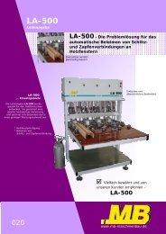 LA-500- Die Problemlösung für das - MB Maschinenbau
