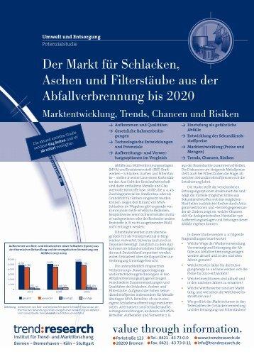 Der Markt für Schlacken, Aschen und Filterstäube aus - trend:research