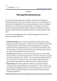 Montage/Nachbearbeitung - Mediaculture online