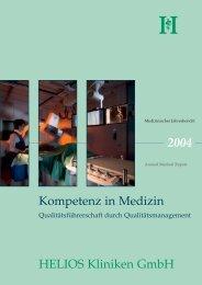 Medizinischer Jahresbericht 2004 HELIOS Kliniken GmbH