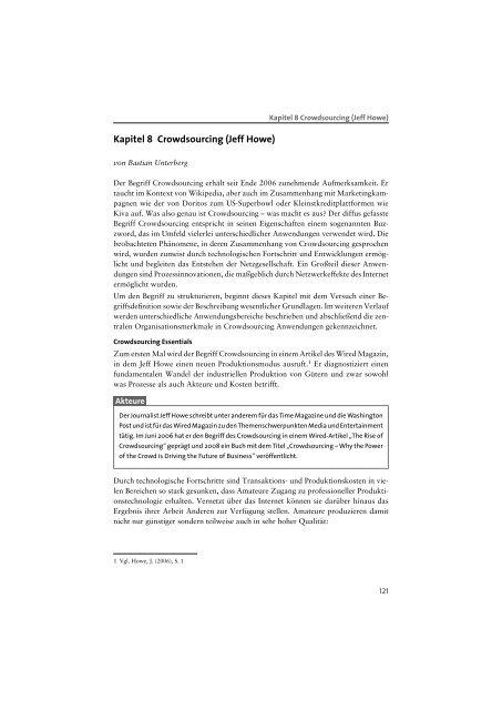 Crowdsourcing (Jeff Howe) Kapitel 8 - Mediaculture online