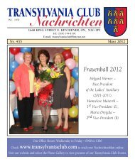 the March 2012 issue of the - Transylvania Club Kitchener
