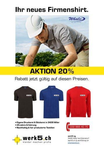 Firmenshirts 20% Rabatt