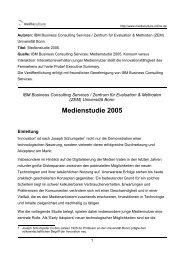 Medienstudie 2005 - Mediaculture online